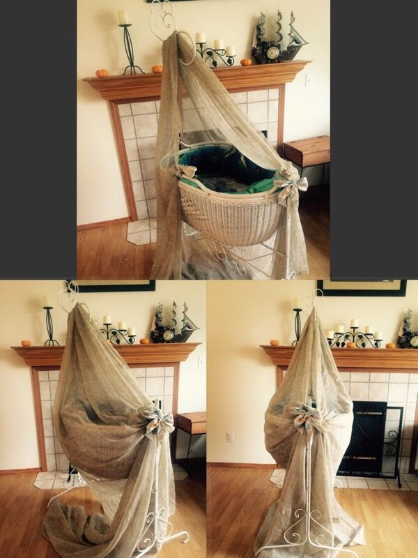 One of a kind -Antique wrought iron / wicker Victorian baby cradle bassinet - I've had for many years - I love this silly thing so much but all my babies are to big . Hope to find someone that will take as good care of this as we did .