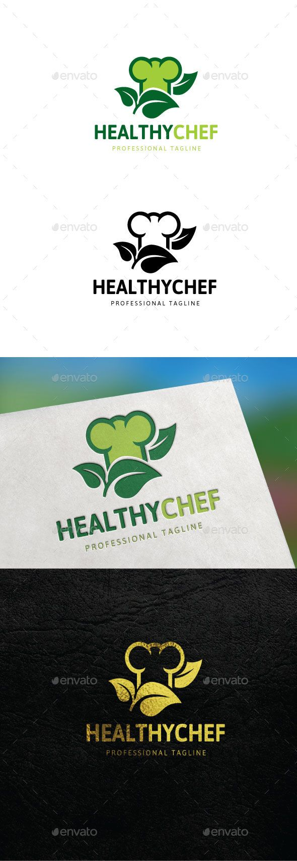 Healthy Chef Logo — Vector EPS #vegetarian #app • Available here → https://graphicriver.net/item/healthy-chef-logo/16418085?ref=pxcr