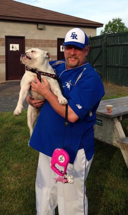 "Chrome met Matt Stairs on Friday at ""Wheels and Deals"" night at Royals field."