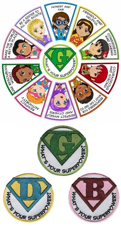 Our superhero Girl Scouts patches are irresistible. Get the whole pack of 11 patches for one low price!…