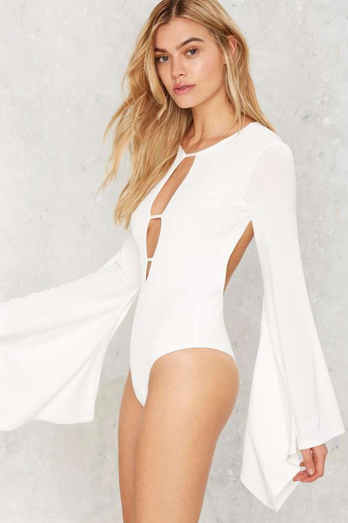 Nasty Gal Third Time's a Charm Bell Sleeve Bodysuit - Clothes | Festival Shop | Best Sellers | Bodysuits | Tops