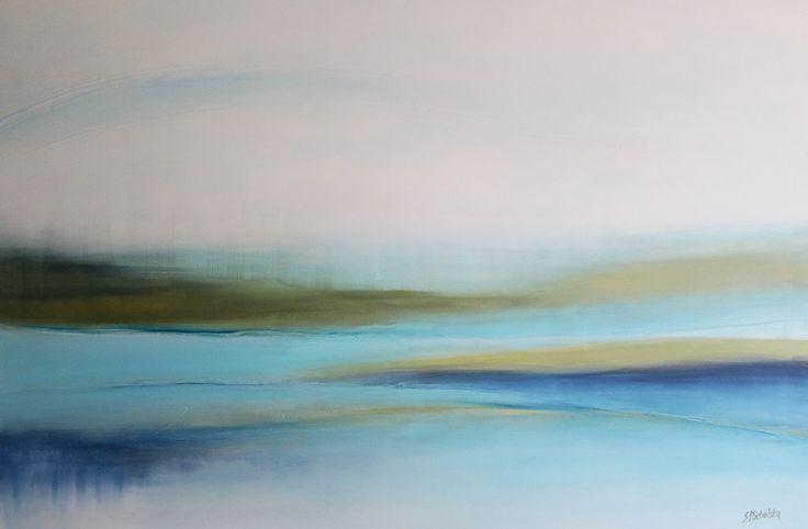 Delikatny pejzaż abstrakcyjny Sylwia Michalska