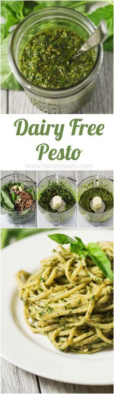 Dairy Free Pesto that is Paleo, Whole30. Gluten Free and Vegan!