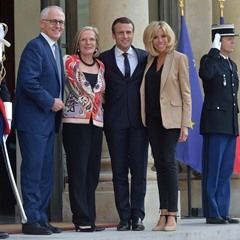 President Macron and his wife meet PM Malcolm Turnbull at the Elysee Palace(342912)
