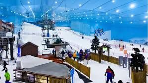 Ski Dubai, United Arab Emirates Dubai is the fastest-growing city in the world and quickly becoming a place where anything is possible; proof of this is the creation of a man-made indoor ski slope. Ski Dubai has 5 runs varying in difficulty, a free-style zone and a family-friendly Snow Park. Don't worry about packing your skis or parkas -- both are available for rent at the one-of-a-kind desert ski mountain.