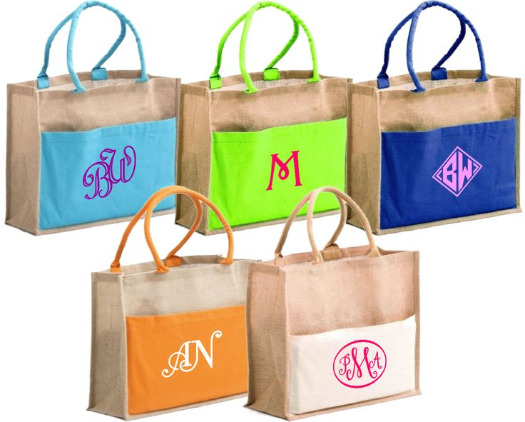 Personalized Bridal Tote Bags with monograms