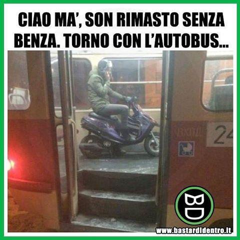 Ma gli #scooter pagheranno il biglietto? Tagga i tuoi amici e #condividi #bastardidentro #autobus www.bastardidentro.it