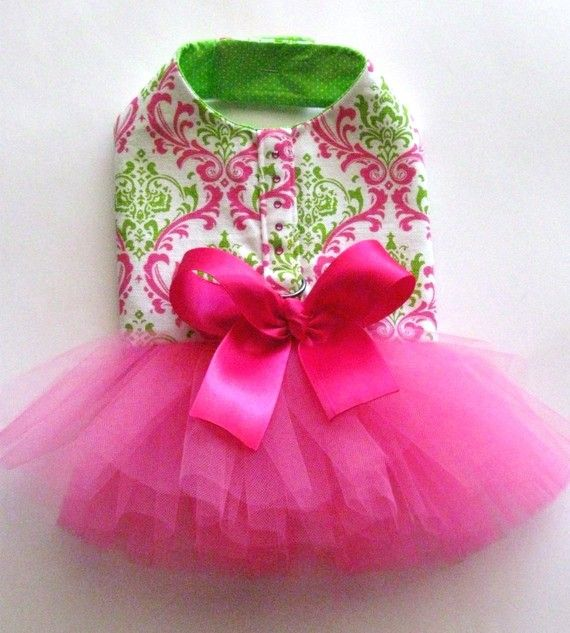 Watermelon Tutu Harness Dog Dress by KOCouture on Etsy, $85.00