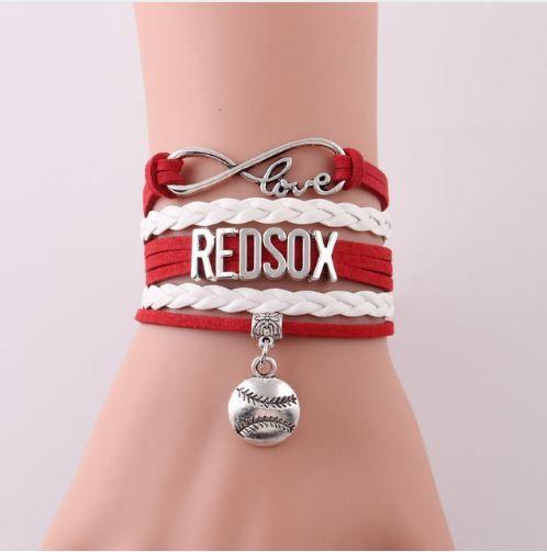 Boston Red Sox Bracelet, Infinity Love Charm & Bangles, 3 Styles, FREE Shipping