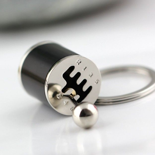 This manual transmission lever keychain so you can never not be shifting. | 25 Awesome Gifts For People Who Love To Drive