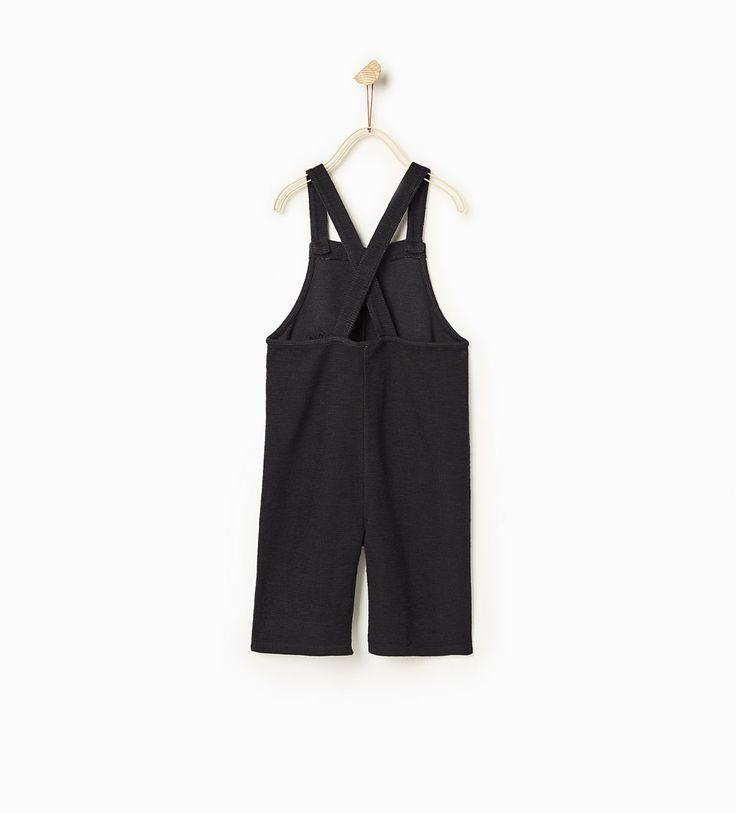 ポケット付き刺繍入りサロペット-今週の新商品-ベビーガール (3ヶ月 - 3歳)-キッズ | ZARA 日本