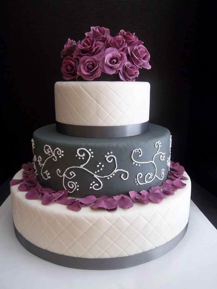 purple and grey wedding cakes best 25 grey wedding cakes ideas on 18860