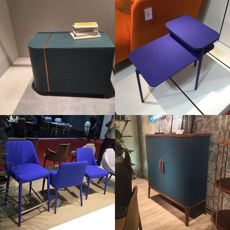 Синий - безусловный тренд! В основном это мягкая мебель но встречаются и комоды и стулья и столики. Thefurnish за синие акценты в интерьере ))) #продизайн #дизайнерскаямебель #интерьеры #designerfurniture #interiors #isaloni2016 #путешествиедизайнера #thefurnish #SalonedelMobile by thefurnishru