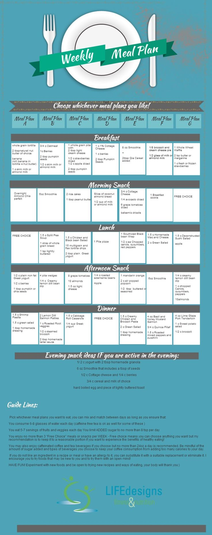Meal Plan Week  4   Piktochart Infographic Editor