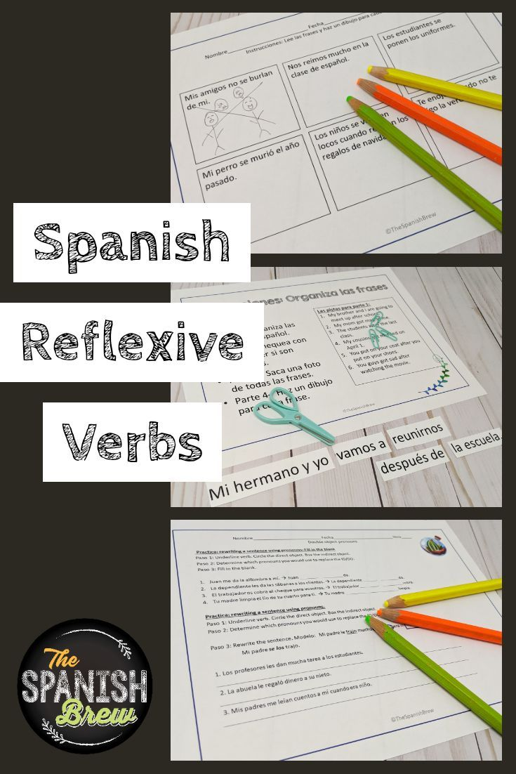 Spanish Worksheets Guided Notes On Reflexive Verbs In 2020 Guided Notes Spanish Students Classroom Life