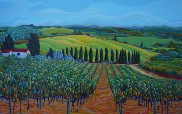 "Saatchi Art Artist Amy Ferrari; Painting, ""SenTrees of the Grapes"" #art"