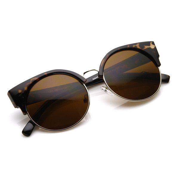 Vintage Inspired Round Circle Cat Eye Sunglasses 8785