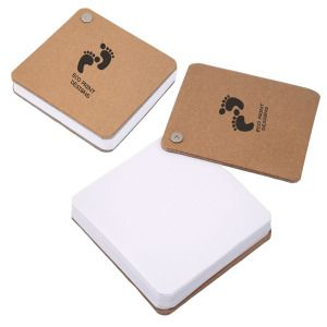 Recycled Cardboard Pivot Pad-This hard cover recycled cardboard memo pad includes 100 - 80 gram sheets of unlined white recycled paper. Also features a corner metal screw and a recycled logo on inside back cover. A great size to keep notepad handy for jotting down notes. See CA8423 for pivot pad with neon coloured paper.