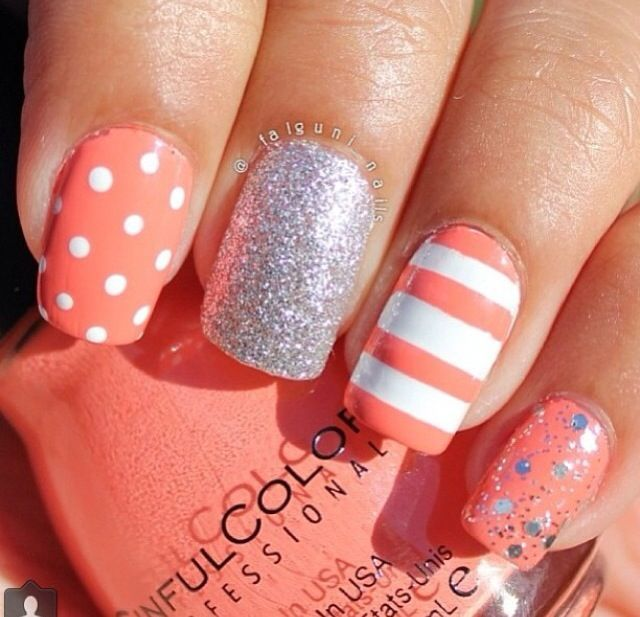 Cute nail art 2014 - stripes and polka dots are nice! - Best 25+ Cute Summer Nail Designs Ideas On Pinterest Sailor