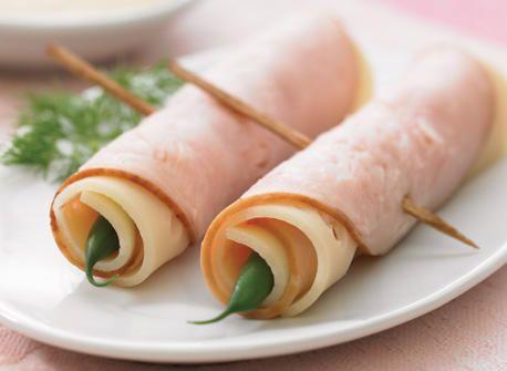 Roulé aux haricots verts, à la dinde et au fromage Suisse