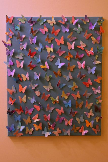 Our butterfly art.  made by the kids.