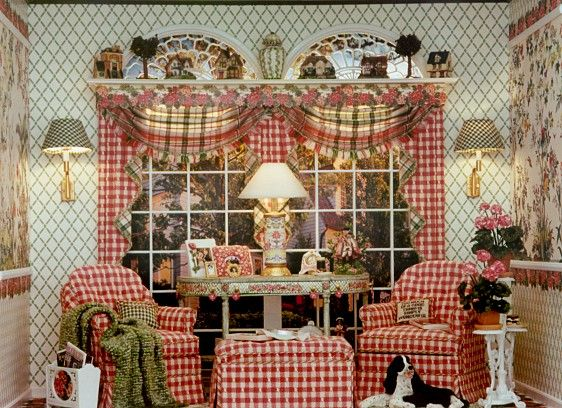Brooke Tucker- Ok...this is a dollhouse however I love the pattern and color…
