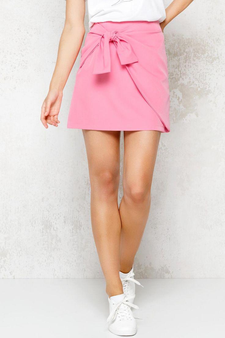 Roze rok met strik   Fashion Webshop LOAVIES