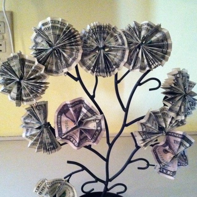 money tree for a raffle prize