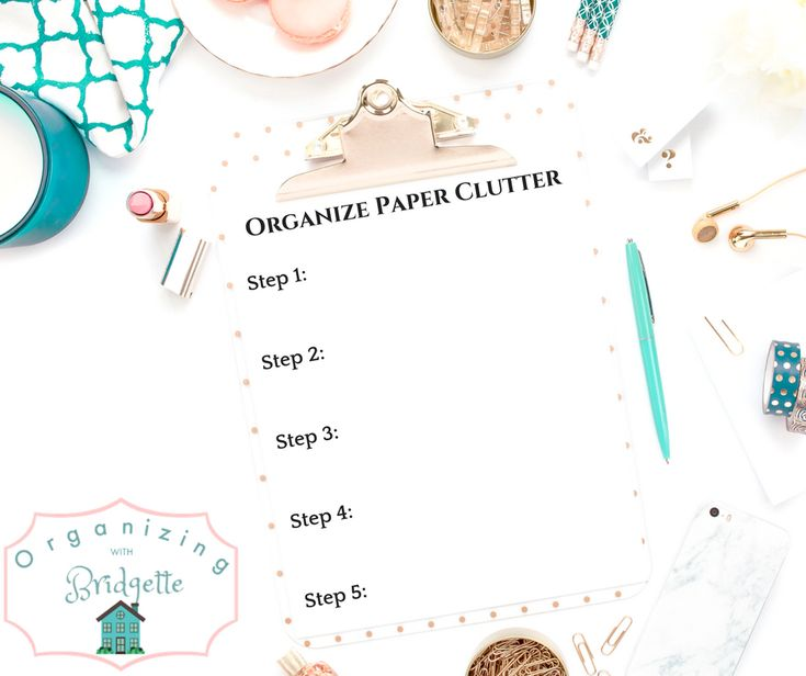 Learn 5 easy steps to paper organization and learn my system for keeping it organized! Paper clutter is gone for good!