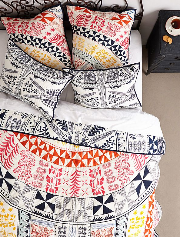 We're obsessed with Mara Hoffman's gorgeous home collection for Anthropologie.