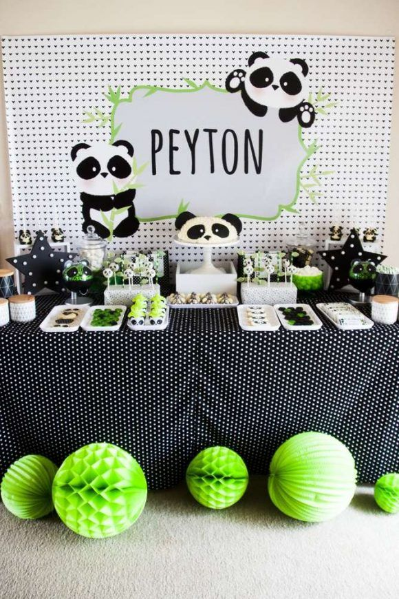 Panda birthday party | CatchMyParty.com