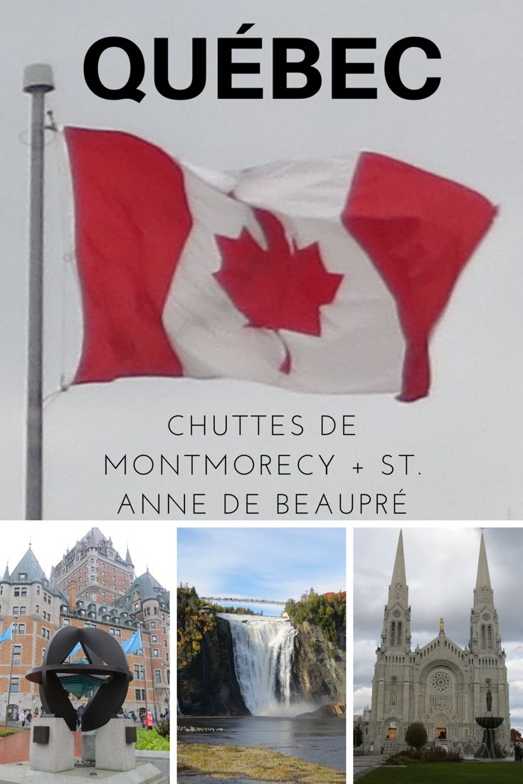 Québec + Chuttes de Montmorecy + St. Ane de Beaupré, Canadá  Quebec é a capital da Província de Quebec e a cidade mais antiga do Canadá. É, inclusive, a única cidade do Canadá e dos Estados Unidos a possuir trechos de seus antigos muros. Dizem até que é um pedacinho da Europa na América do Norte, de tão fofa que ela é.