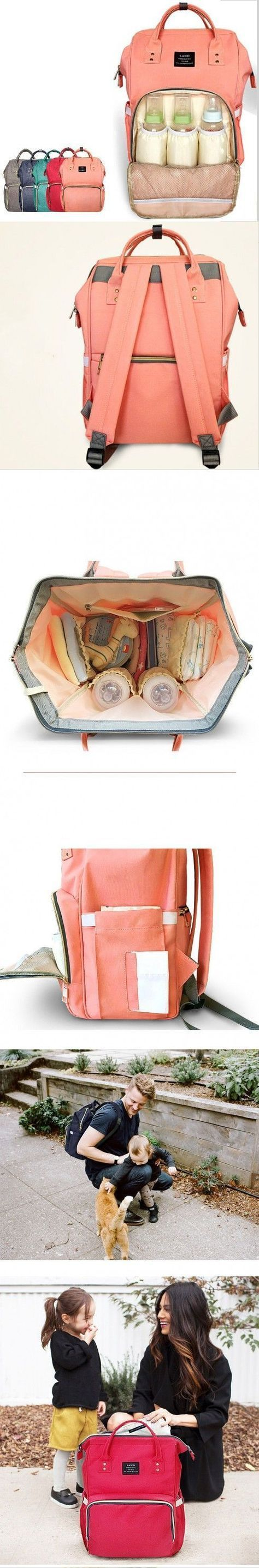 This fashionable backpack diaper bag is perfect for mom and baby. Comes in stylish colors from coral pink to classic black - https://mommababygear.com/products/fashionable-travel-backpack-for-baby-care