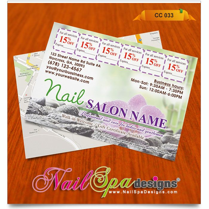 50 best Nail Spa Coupon Card Design images on Pinterest Coupon - coupon flyer template