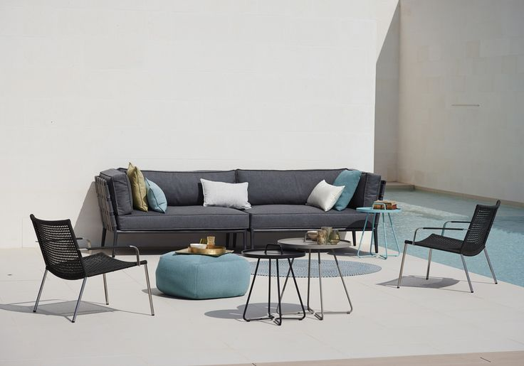 Cane-line mix & match. With all our products you will be able to create the perfect environment for you to enjoy the summer. Even our new Conic Lounge #Sofa and Straw Lounge #Chair are a perfect match. #Gardenfurniture #Outdoor #Caneline #Mixmatch