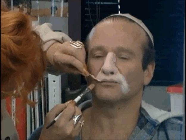 """The Actual Makeup From """"Mrs. Doubtfire"""" Was Even More Intense Than You Realized // #RobinWilliams <3"""