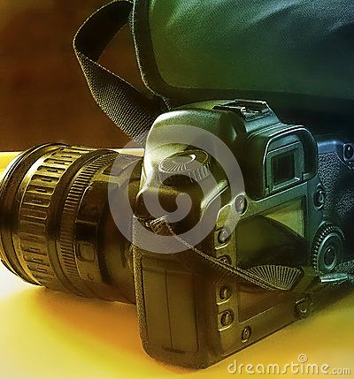 Camera With Bag - Download From Over 58 Million High Quality Stock Photos, Images, Vectors. Sign up for FREE today. Image: 91582156