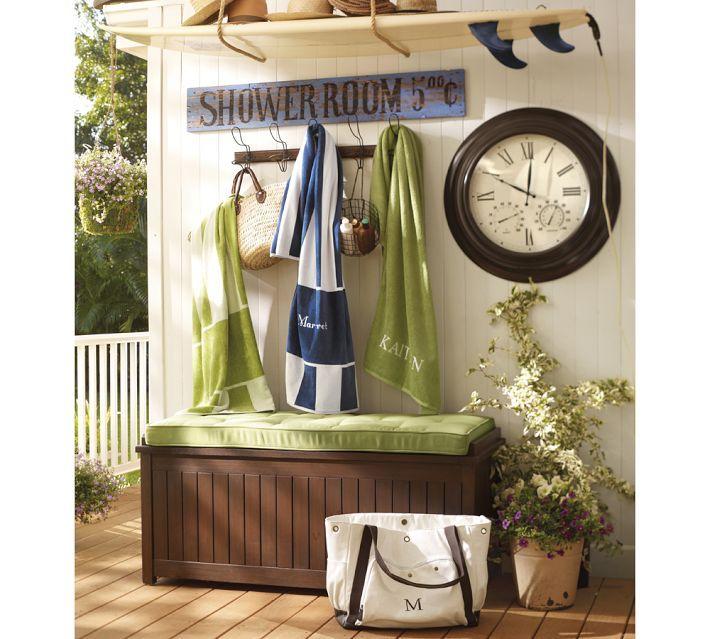 Pool Deck-Love the surf board shelf