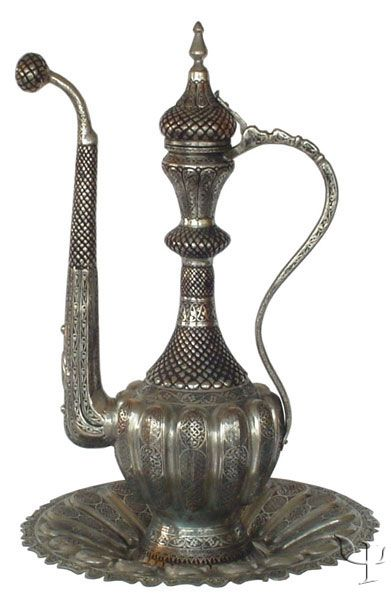 Turkish Copper Ewer with Plate