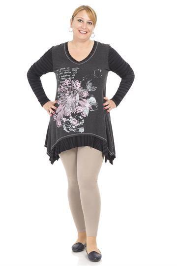Çiçek Baskılı Yün Viskon Tunik TNK4391 Antrasit  #büyükgüzellik #indirim #elbise #satınal #kışlık #moda #fashions #kadın #güzellik #beauty #beautiful #dress #sales #bigsize #büyükbeden #Şalvar