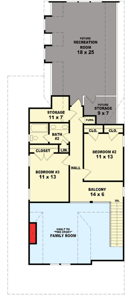 Sophisticated Country Cottage - 58547SV floor plan - 2nd Floor