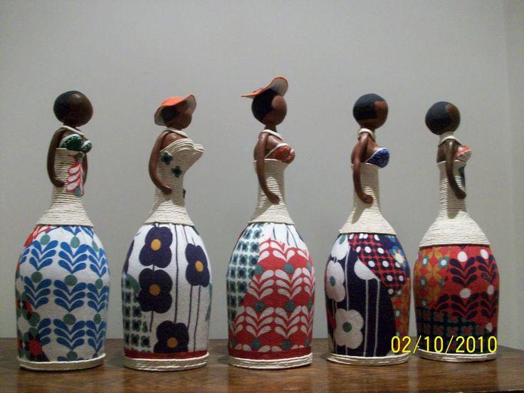 boneca africana de garrafa - Pesquisa Google