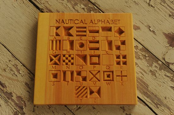 Nautical AlphabetCNC Wood SignsNautical DecorNautical by OYKNOT