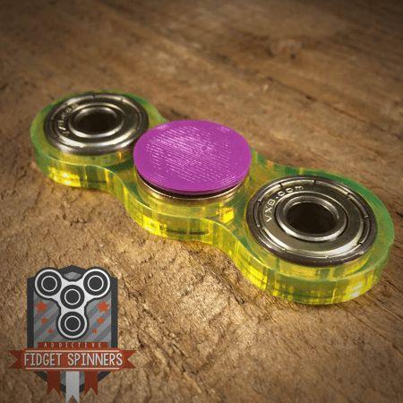 Acrylic EDC Spinner Dual Bar Fidget Toy with Caps