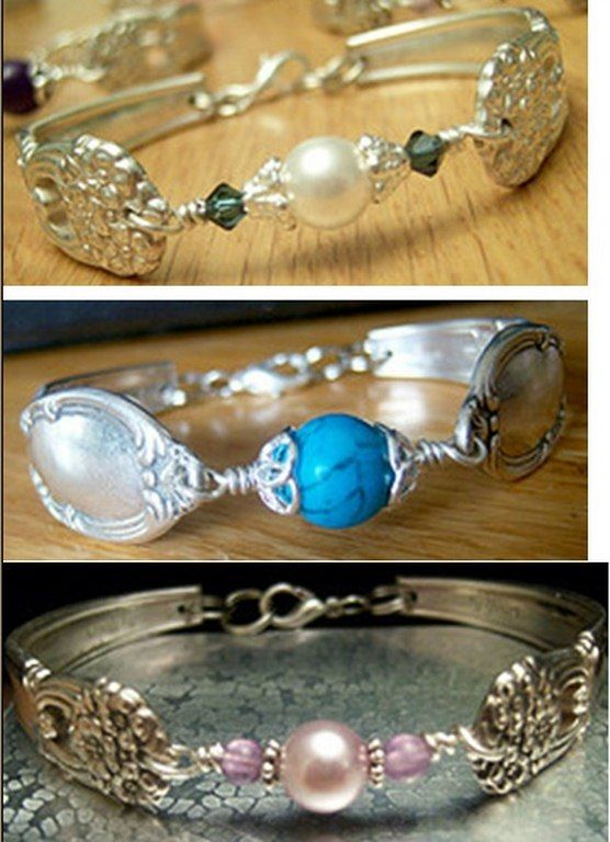 Forks and spoons turned into jewelry.