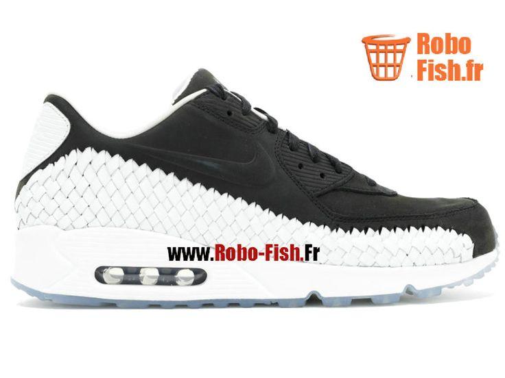 Nike Air Max 90 Woven - Chaussure Nike Running Pas Cher Pour Homme Noir/Blanc 833129-003