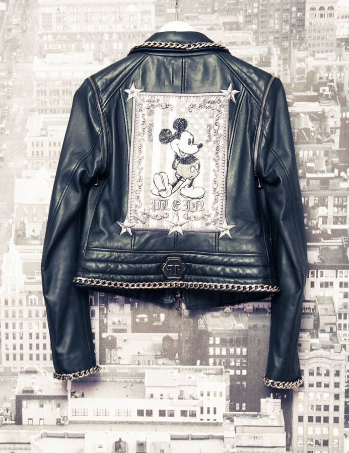 Phillip Plein - Mickey Mouse leather biker. Love