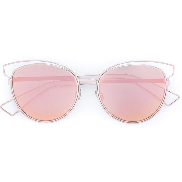 Dior 'Sideral 2' sunglasses ($520) ❤ liked on Polyvore featuring accessories, eyewear, sunglasses, metallic, christian dior glasses, metallic sunglasses, rose glasses, christian dior eyewear and christian dior