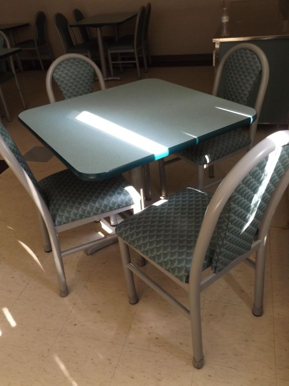 Mts Cafeteria Table W Four Chairs Cafeteria Table Cafeteria Furniture Chair