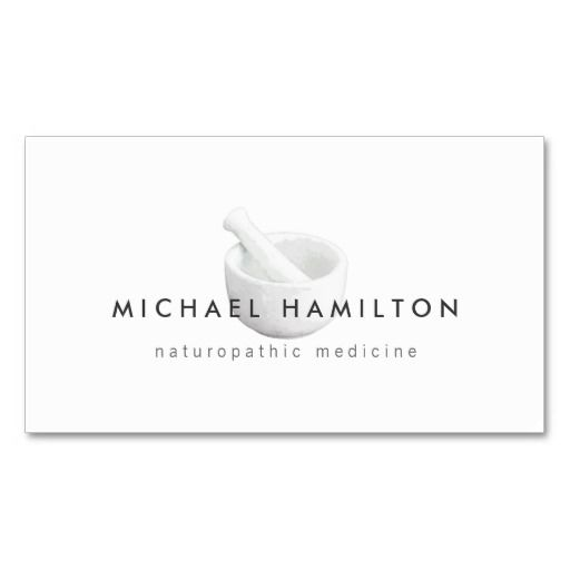 Mortar And Pestle Logo For Naturopaths Healers Business Cards